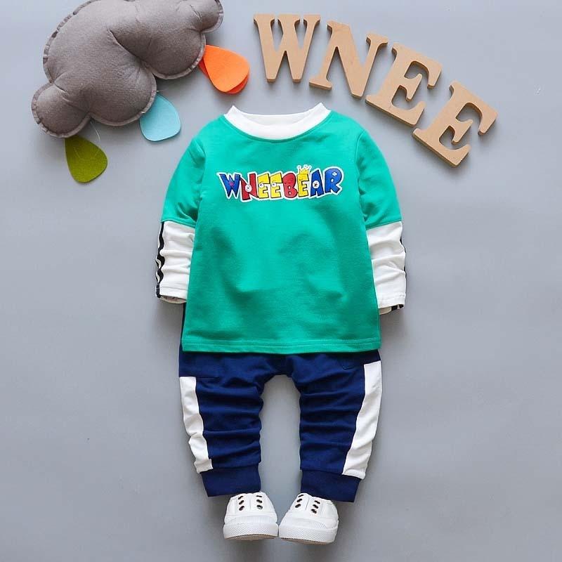 Bibicola/Комплекты одежды для мальчиков младенцев для маленьких мальчиков Новый Демисезонный спортивный костюм детский спортивный костюм для комплект одежды для мальчиков Наряд