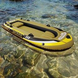3 + 1 Person 305*136*42 cm dicke fischerboot schlauchboot kajak beiboot floß zubehör kanu alumnium ruder paddle pumpA06008