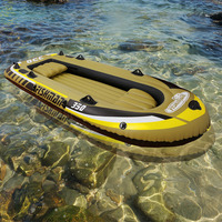3+1 Person 305*136*42cm thick fishing boat inflatable boat kayak dinghy raft accessory canoe alumnium oar paddle pumpA06008