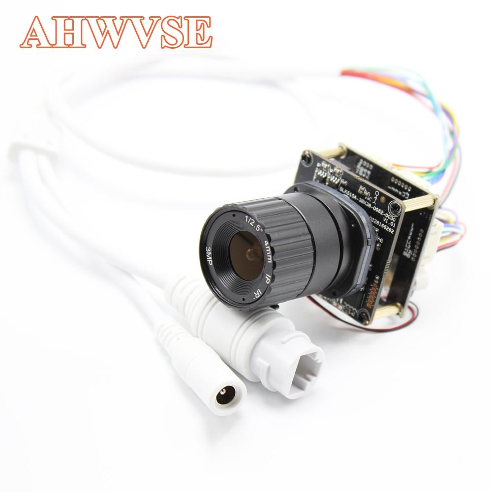 AHWVE POE DIY IP Camera module Board 4MP OV4689 IRCUT RJ45 Cable Camera PCB Mobile APP XMEYE CCTV Security 1080P 2MP ONVIF H264