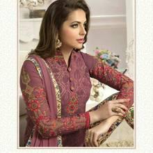 Ranitrend'z индийские Пакистан Для женщин чуридар, шальвар-камиз дизайнерское украшение в виде цветка из ткани платье с вышивкой комплект Болливуд в этническом стиле Вечерние платья