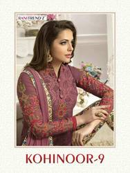 RANITREND'Z الهندي باكستان المرأة Churidar السلوار Kameez مصمم زهرة التطريز اللباس مجموعة بوليوود العرقية حزب اللباس