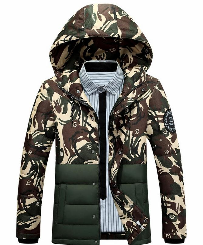 ФОТО The New Winter Coat Men Hooded Camouflage Coats Men's Cultivate One's Morality Cotton-padded Jacket