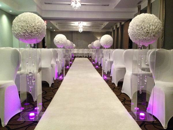 50cm 2pcslot Flower Ball Artificial Wedding Table