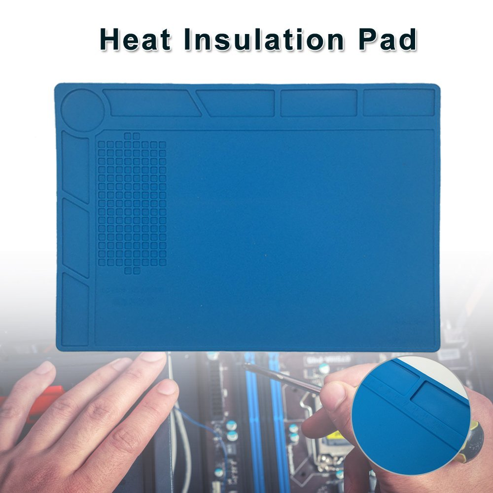 New Heat Insulation Silicone Pad with Screw Location Mat Electrical BGA Soldering Repair Station Maintenance Platform anti static heat resistant soldering mat esd silicone insulator pad bga phone repair tools kit soldering station desk mat