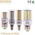 Lâmpada LED Milho Lâmpada luz de Velas E27 E14 SMD 5730 lâmpadas 24 72 96 Leds Lampada E27 220 V Ampola Luz de velas
