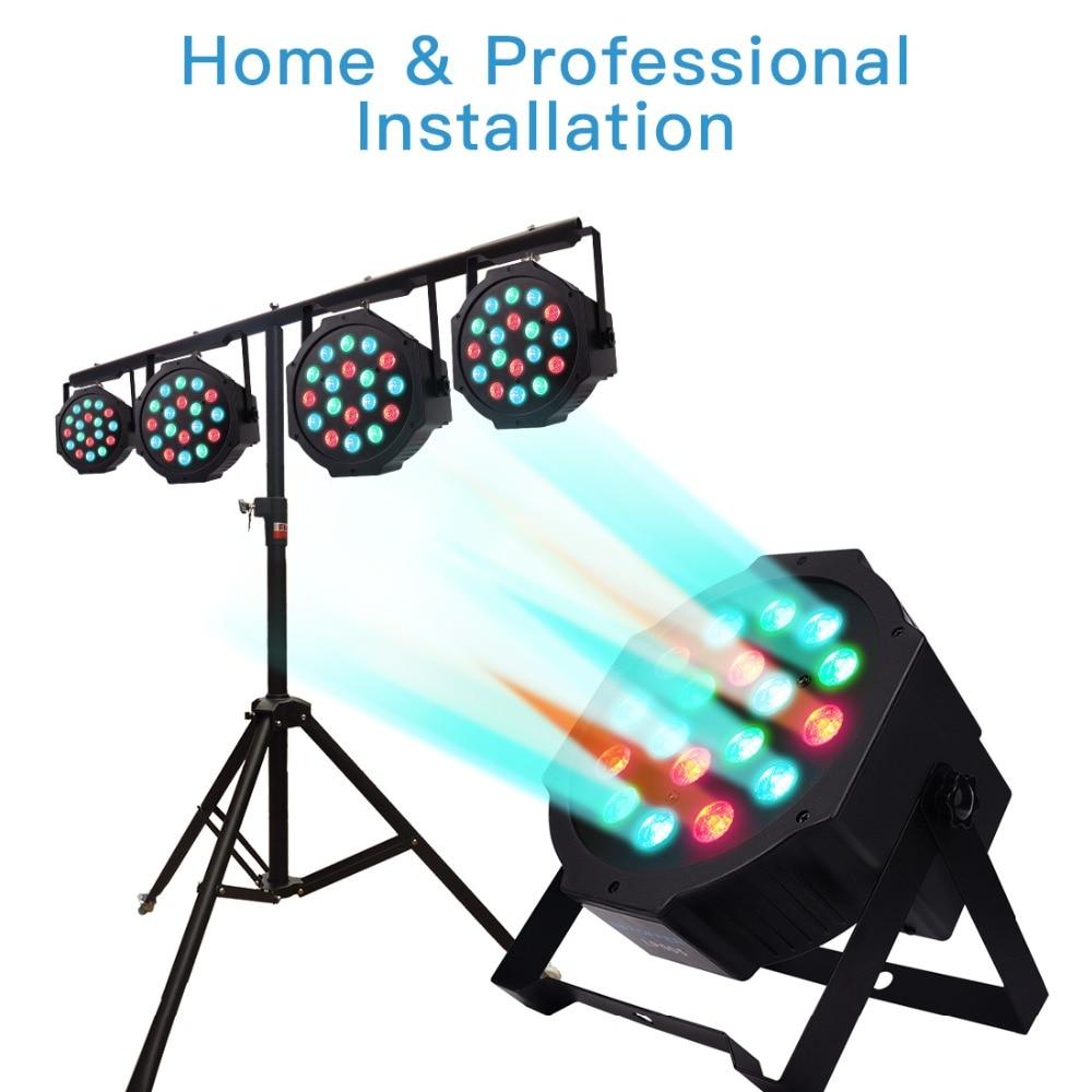 BETOPPER 18 DMX LED RGB Stage Light Par Stage Lighting Effect LED Party Dj Disco Lights Projector Christmas LED Party Lights
