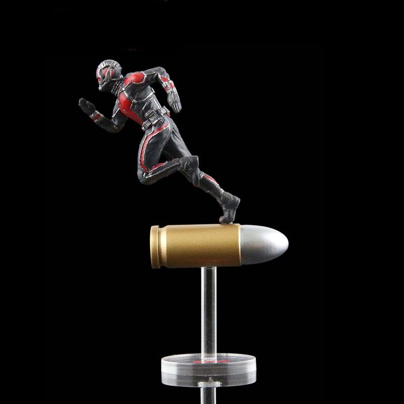 1 Pcs Marvel Anime Superhero Mini Ant Man Wasp Yellow Jacket PVC Action Figure Toys Doll 6.5 CM Miniature Antman Model Bullet king arts ffs003 bullet ant man doll static model miniature doll model doll collection