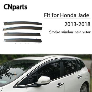 CNparts 4pcs ABS For Honda Jade 2013-2018 Car Styling Smoke Window Sun Visor Keep  Fresh Air  convection Accessories