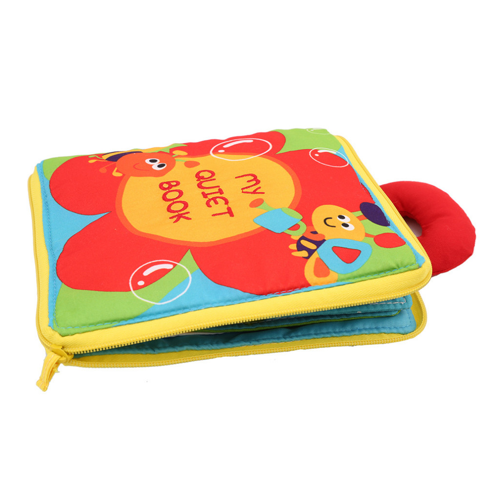 12 pages Soft Cloth Infant Educational Book