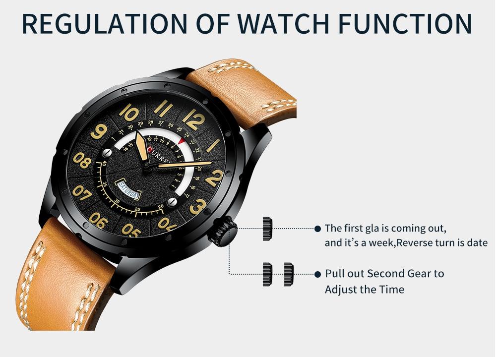 HTB1oOFtaED1gK0jSZFGq6zd3FXaz CURREN Date Mens Watches Luxury Sport Watch