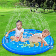 170 CM Summer Childrens Baby Play Water Mat Games Beach Pad Lawn Inflatable Spray Cushion Toys Outdoor Tub Swiming Pool