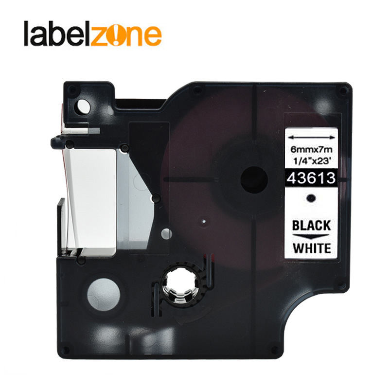 1//4/'/' Black on White for Dymo D1 43613 LabelManager 160 420P 500TS Label Tape