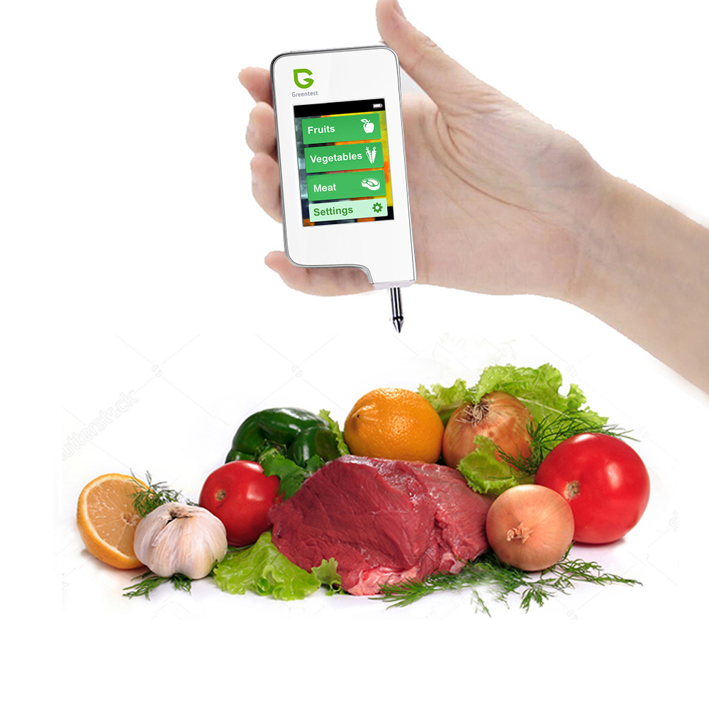 Зеленый Высокая точность читать цифровой еда нитрат тестер, мясо фрукты овощи обнаружения (белый) Здоровье и гигиена нитрат