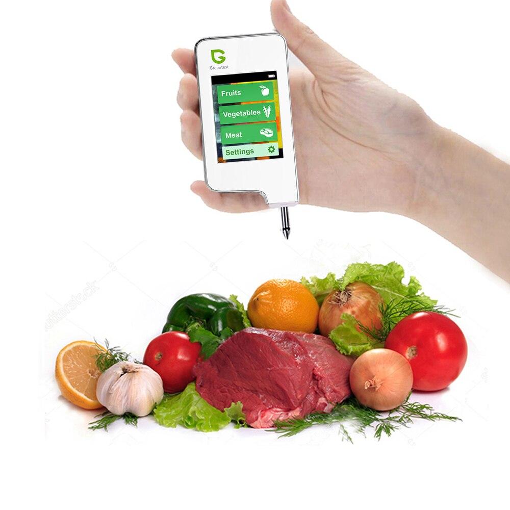 Greentest Nitrato De Alimentos de Alta Precisão Digital de Leitura Tester, Detecção de Carne Legumes Fruta (Branco) Nitrato De Cuidados de Saúde