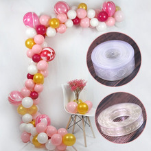 Balloon chain Party rubber Festival supplies 1PC Wedding 5m PVC transparent arch decoration helium balloon