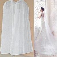 الغبار يغطي فستان الزفاف ملابس الزفاف ثوب طويل الملابس حامي غطاء إضافي كبير حالة التخزين حقيبة J2Y