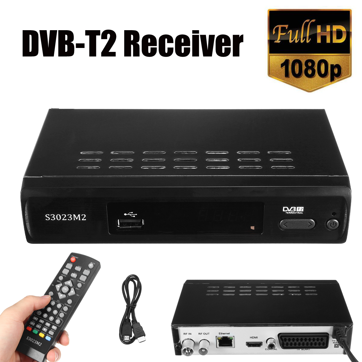 DVB-T2 DVB-T H.265 MPEG-2 h265 dvb t2 TV Tuner Box Digital Receiver Digital HD Satellite TV Receiver With Romote Control цена