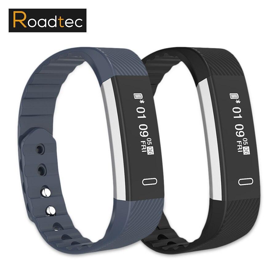 ROADTEC smart activité de remise en forme bracelet tracker pulsometro bande à puce moniteur de fréquence cardiaque id107 Sommeil Tracker bracelet à puce