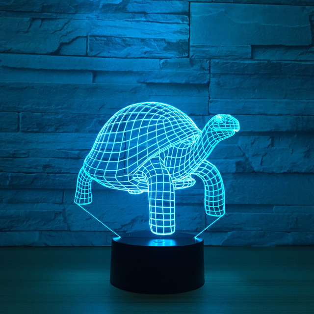 Creative Tortoise 3d Visual Lamp Led Sea Turtles Table Lamp Rgb Baby