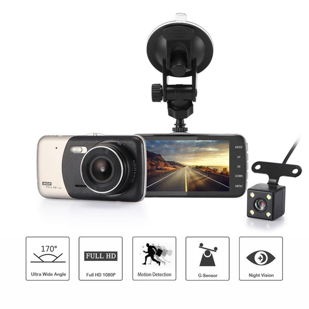 4.0 Pollice IPS Schermo Dell'automobile DVR Novatek Macchina Fotografica T810 Oncam Dash Camera Full HD 1080 P Video 170 Gradi Dash Cam