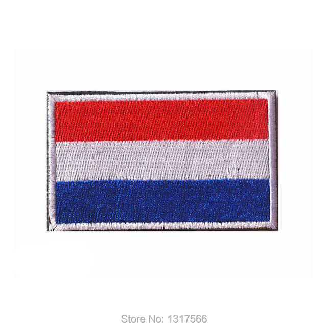 80 50mm netherlands flag embroidered badge patches military tactical