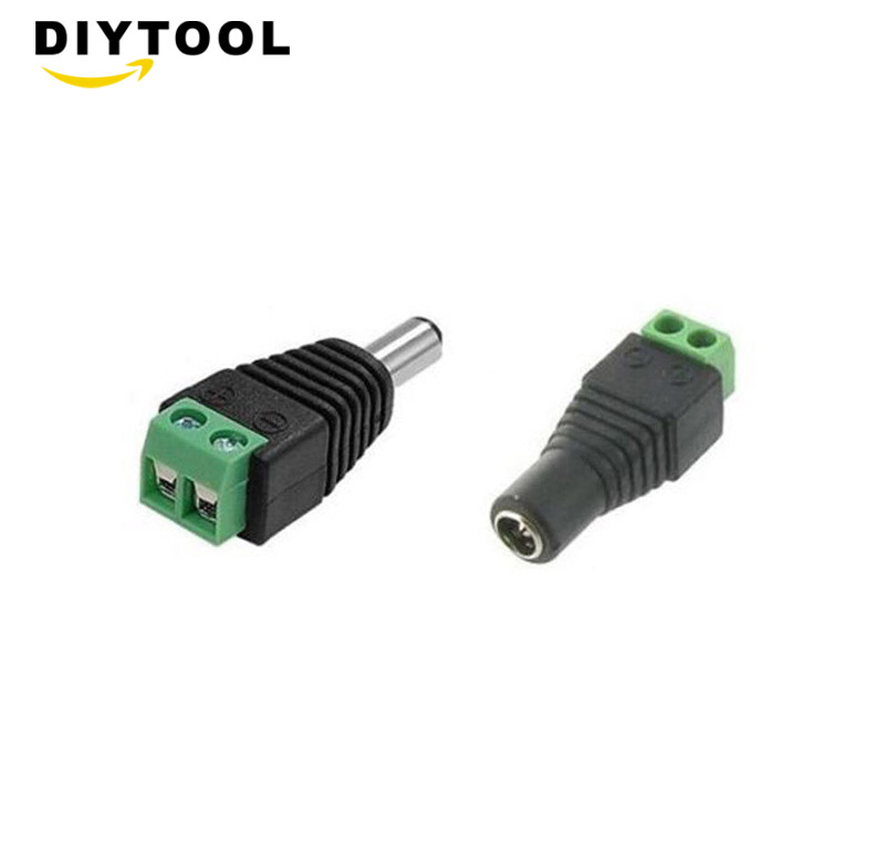 male female <font><b>DC</b></font> Power <font><b>plug</b></font> <font><b>5.5</b></font> x 2.1MM 12V Jack Adapter Connector <font><b>Plug</b></font> CCTV image