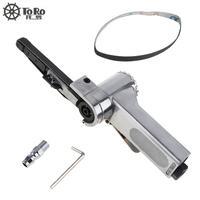 7100 10mm Pneumatic Air Belt Sander Drawing Machine Polishing Grinding Die Casting Aluminum Tools With 2pcs