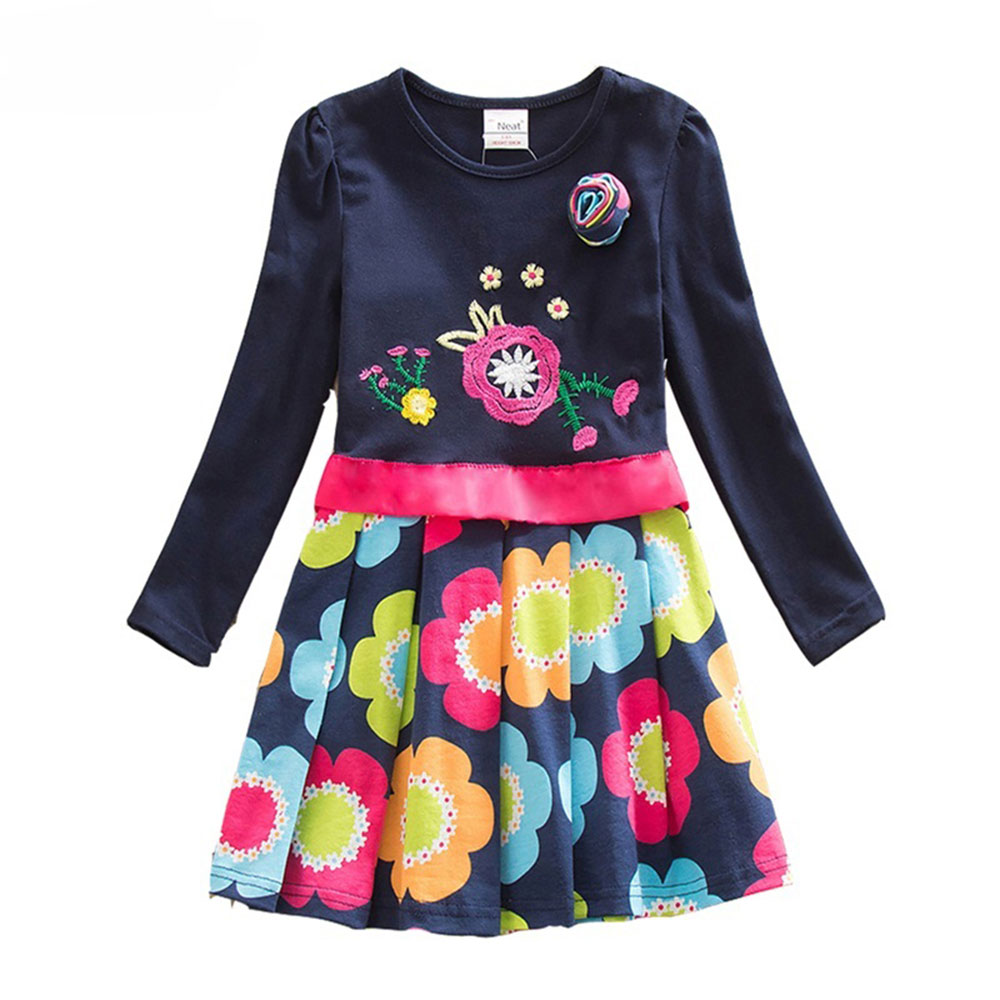 Girl-dresses-NEAT-100-cotton-kids-dress-embroidery-flowers-for-children-s-dress-fashion-brief-appliques