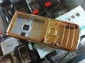 Nova cor de ouro tampa da caixa completa case + teclados para nokia 6700c 6700 com logo frete grátis