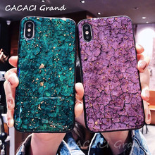 Luxury Glitter Glossy Marble Phone Cases For Samsung Galaxy S8 S9 Plus Note 9 note 8 Soft Silicon Cover Bling Gold Foil Case