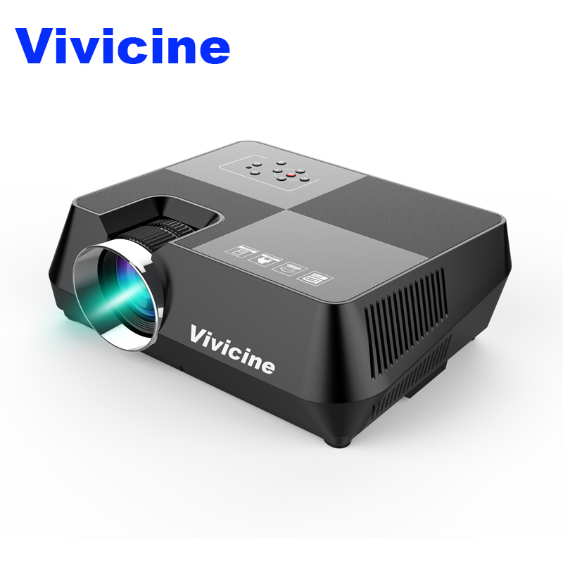 VIVICINE Android HD Projector 1280x800 Pixels Wireless WIFI Miracast Airplay Bluetooth Optional Portable 1080p TV PC