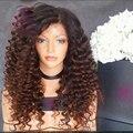 На складе 180% Толщиной Плотность Ombre 1b/4 # девственница Перуанский полное кружева парики природный хеалаин детские волосы glueless кружева перед парики