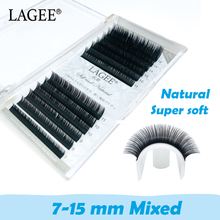 LAGEE 7-15mm Mixed Greater Length False Fake Magnetic Natural Soft Eyelashes for Extension 3d Mink Lashes maquillaje cilios