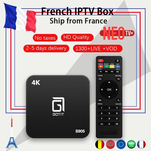 Французский S905 Android tv box 7,1 + NEO ТВ IP ТВ подписка IP ТВ французское Бельгия арабский Марокко 1300 + VOD IP ТВ m3u smart tv box