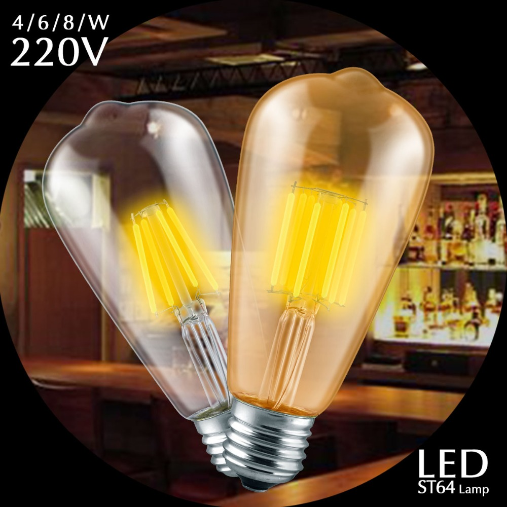 Ac 220 v vintage edison dimmer licht e27 led lampen st64 warm wit ac 220 v vintage edison dimmer licht e27 led lampen st64 warm wit 2200 k 2700 k led lamp dimbare retro licht voor huisdecoratie in ac 220 v vintage edison parisarafo Image collections