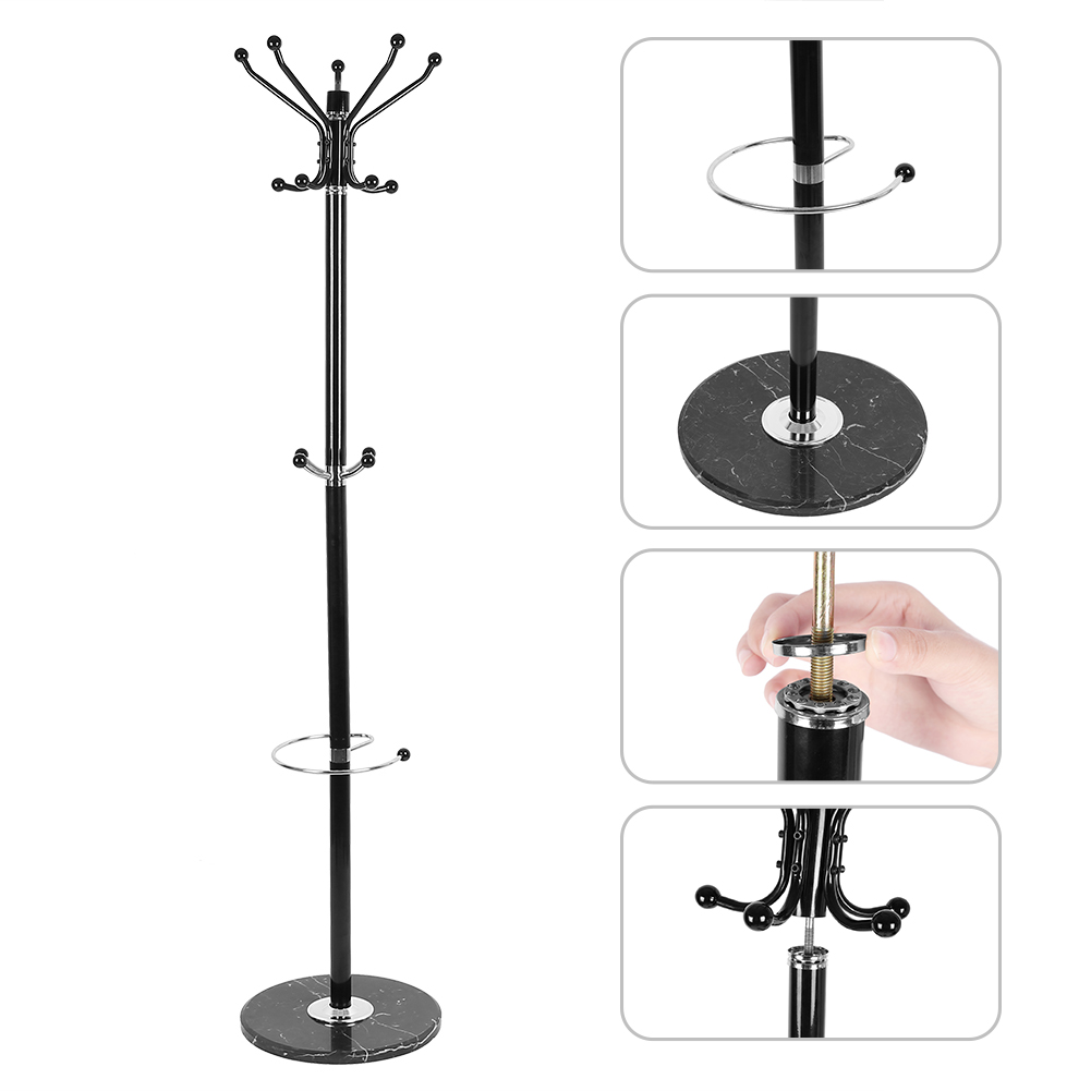 Tree Style Coat Rack 1.7m Metal Coat Hat Jacket Stand Tree Holder Bags Hanger Rack With Marble Base Clothes Racks Hwc Living Room Furniture Furniture