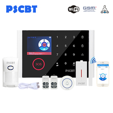 PS108 Touch Screen Panel GSM WIFI Alarm System Kit Pet Immunity Sensor Detector GSM Dialing for Business Home Alarms Security цена 2017