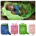 Ropa de cama de bebé Bebé bolsas de dormir saco de dormir infantil Del Niño Del invierno bolsa de dormir saco de dormir de animales de dibujos animados 0 1 2 3 4 año