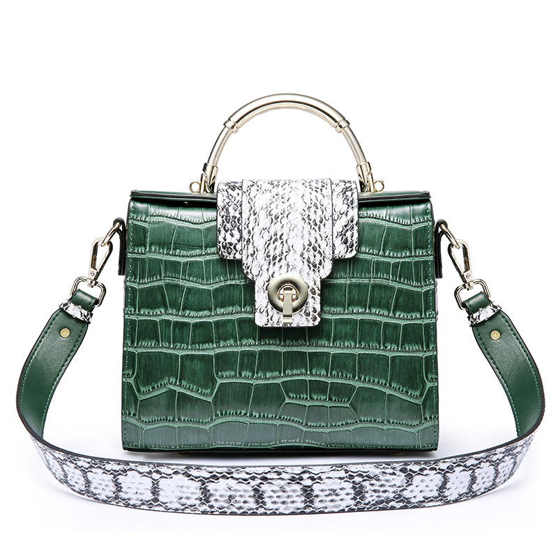 2018 Spring And Summer New Women Genuine Leather Handbags Fashion Ladies Crocodile Pattern Retro Shoulder Messenger Bags
