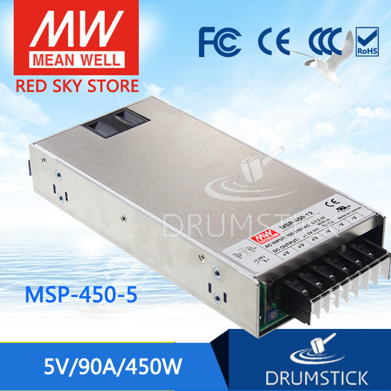 Advantages MEAN WELL original MSP-450-5 5V 90A meanwell MSP-450 5V 450W Single Output Medical Type Power Supply mean well original msp 100 24 24v 4 5a meanwell msp 100 24v 108w single output medical type power supply
