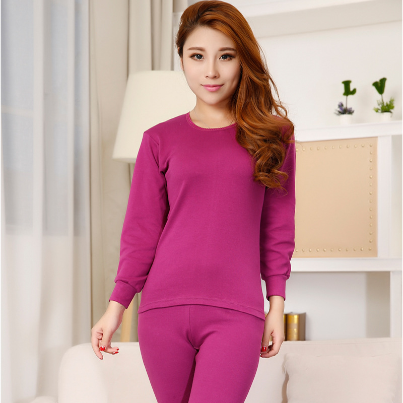 Womens Thermal Underwear Keep Warm Suits Underclothes For Winter 2XL Pure Cotton Breathable Long Johns U Neck And Turtleneck