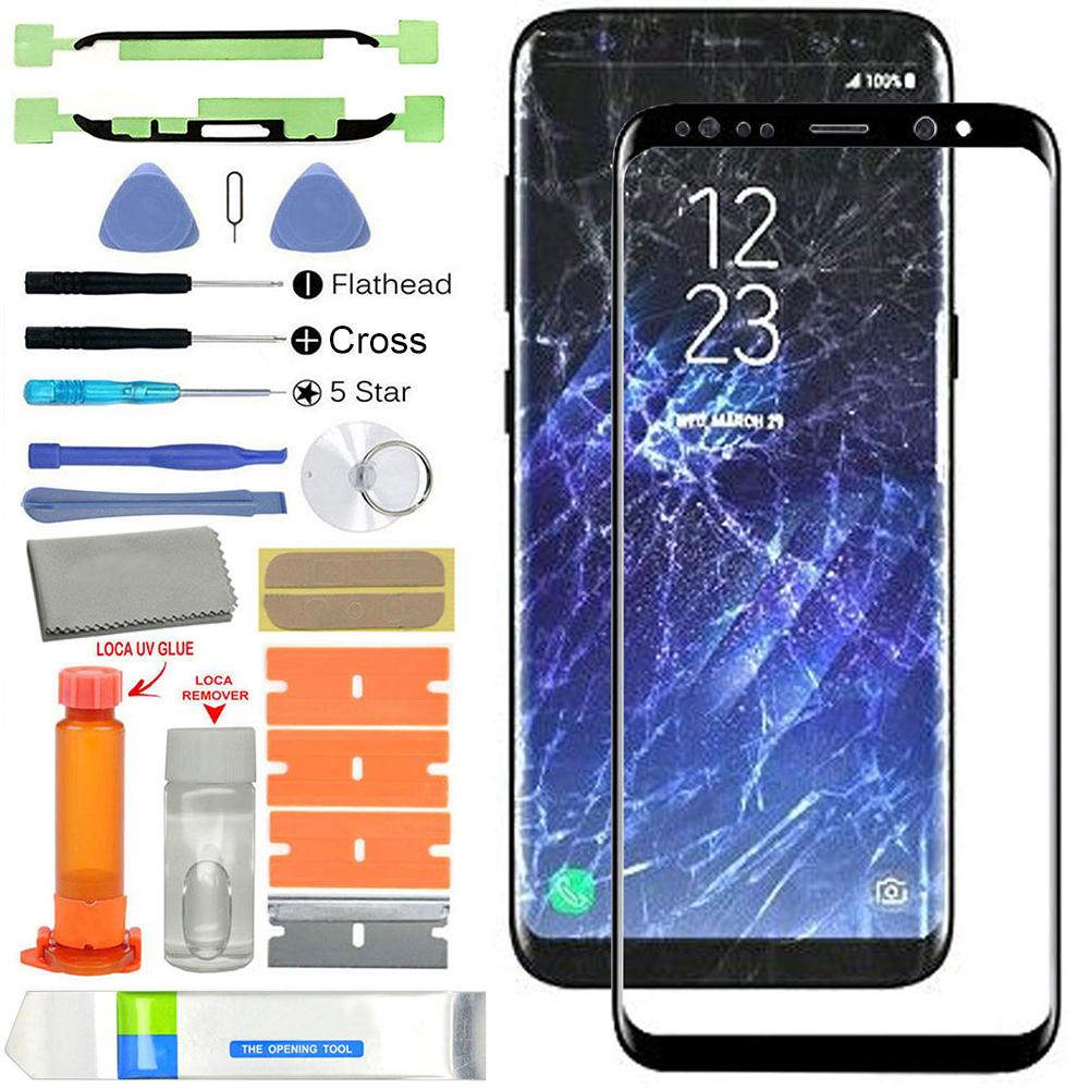 2019 New Front <font><b>Glass</b></font> Screen <font><b>Replacement</b></font> Kits for <font><b>Samsung</b></font> <font><b>Galaxy</b></font> <font><b>S8</b></font> G950 <font><b>S8</b></font> Plus G955 image