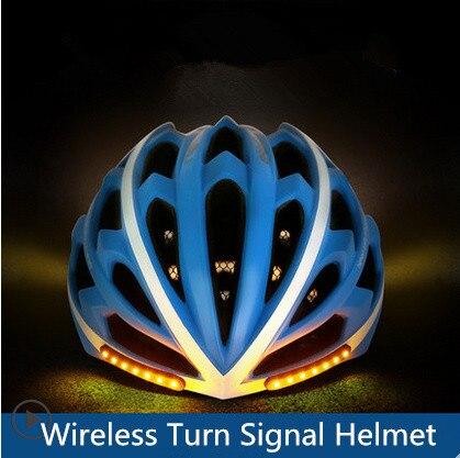 2018 MOON bicycle helmet Wireless Turn Signal Helmet cycling Intelligent helmet moon 2017 in mould led bicycle helmet