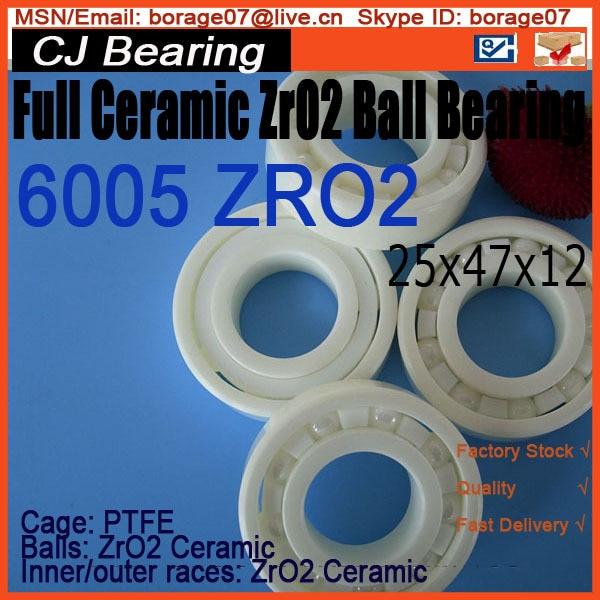 Full Ceramic bearing 6005 zro2 ceramic ball bearing 61916 6916 zro2 full ceramic bearing 80x110x16mm