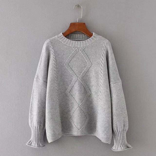 2018 New Arrival Female Solid Pullovers Spring Autumn Winter Pullover Women  Basic Knitted O Neck Sweater Warm Long Sleeve 830df73a8