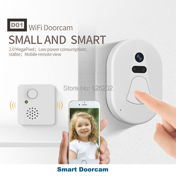 2017 New Housing HD 1080P Video Door Phone Intercom Wifi Doorbell Home Security Night Vision Wireless Doorbell Doorphone