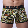 WOXUAN Brand 2017 Camouflage Men Casual Big Penis Pouch Long Boxers Shorts Underwear/Military Trunks Panties