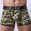 Woxuan marca 2017 homens camuflagem casual big penis bolsa longas boxers shorts underwear/militar troncos calcinhas