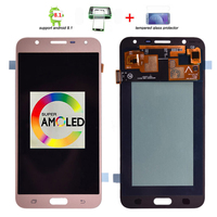 Super Amoled Brightness Adjustment LCD For Samsung Galaxy J7 neo J701 J701F AMOLED LCD Display Touch Screen Digitizer Assembly